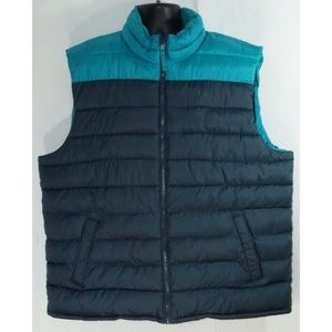 Old Navy Puffer Vest Full ZIP Quilted XXL
